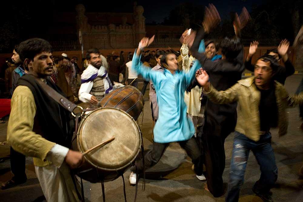 Sufi drummers in Lahore, Pakistan, 2010.