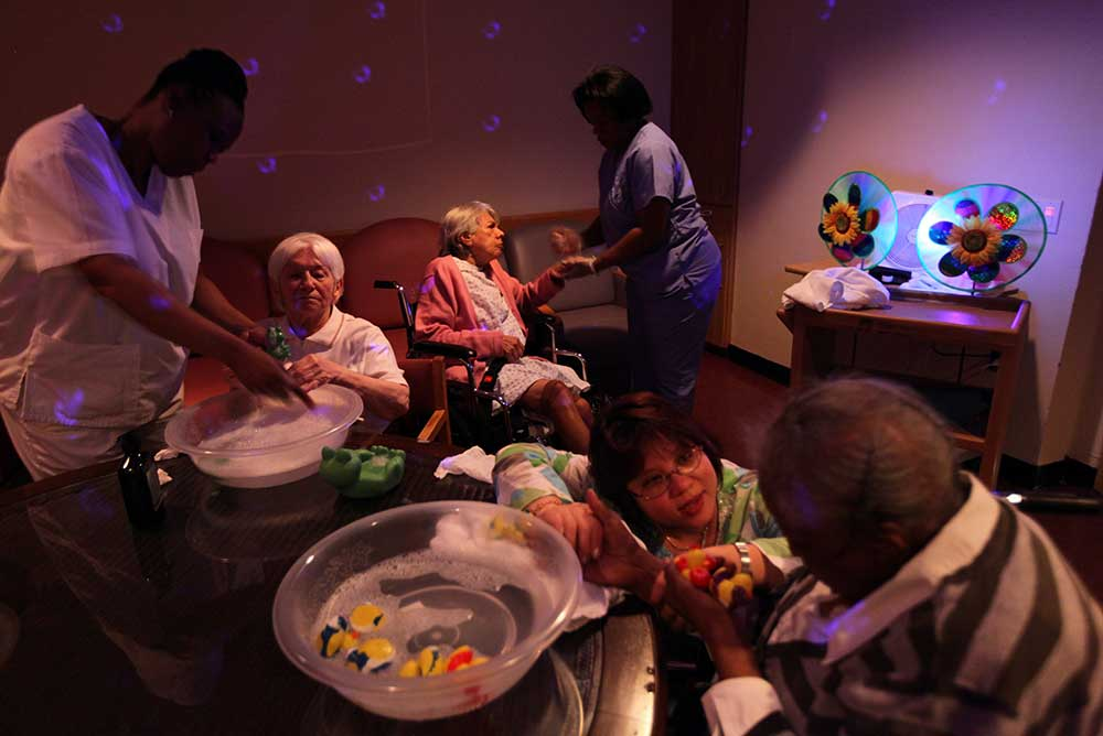 Dementia patients and their caretakers in Riverdale, NY, 2009.